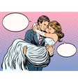 just married loving couple vector image vector image