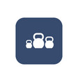 kettlebells icon on white background vector image vector image