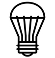 LED light bulb icon vector image vector image