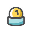 lottery number ball icon cartoon vector image
