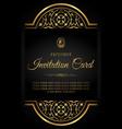 luxury design invitation card vector image vector image