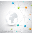 modern infographic network template with place vector image vector image