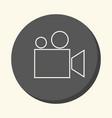 movie camera or film projector round icon vector image vector image