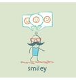 one thinks about smileys vector image