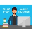 Online education Training and e-learning study vector image vector image