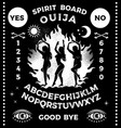 ouija board with witches dancing near a campfire vector image vector image
