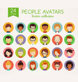 people faces set round avatars vector image