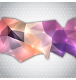 Polygonal abstract line vector image vector image