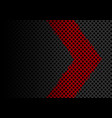red arrow direction on dark gray diamond vector image