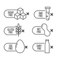 set of food diet labels vector image vector image