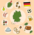 set of national profile of the germany vector image vector image