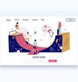 skate park website landing page design vector image