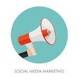 Social Media Marketing Icon Hand with Megaphone