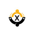 success life coaching initial x vector image vector image