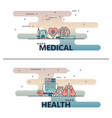 thin line medical poster banner templates vector image