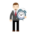 Time management productivity planning and vector image