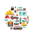 Tourism and travel Set of colorful modern flat vector image
