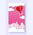 valentines day social media story post template vector image vector image
