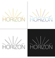 Abstract horizon logo template vector image