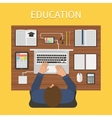 Modern education Online study concept vector image