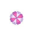 abstract mono line flower logo designs vector image vector image