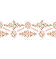 african ethnic style stripe ornament vector image vector image