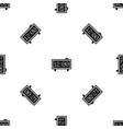 alarm clock pattern seamless black vector image vector image