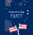 american independence day celebrations greeting vector image
