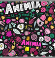 anemia foods seamless pattern vector image
