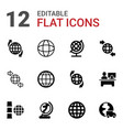around icons vector image vector image