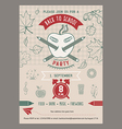 Back to school invitation card vector image vector image