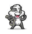 badger cool mascot design vector image vector image