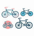 bike icons set bicycles vector image