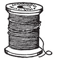 bobbin thread its a spindle or cylinder bobbins vector image vector image