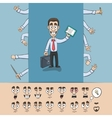Business man construction pack vector image vector image