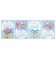 calendar 2021 spring and summer months set vector image vector image