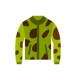Camouflage jacket icon flat style vector image vector image