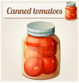 canned tomatoes detailed icon vector image vector image