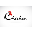 Chicken design vector image