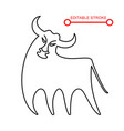 chinese new year sign abstract ox bull cow vector image vector image