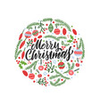 christmas background circular shape with pine vector image vector image
