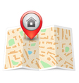 City map with label pin vector image