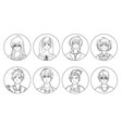 collection of male and female anime or manga vector image vector image
