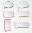Colorful set speech bubbles vector image vector image