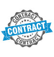 contract stamp sign seal vector image vector image