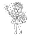 cute in a fairy costume dressed in a suit oak vector image vector image