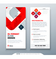 dl flyer design with square shapes corporate vector image vector image