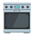 domestic gas oven icon cartoon style vector image vector image