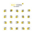 easy icons 39d file formats vector image vector image