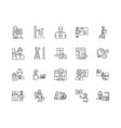 engineering and surveing services line icons vector image vector image